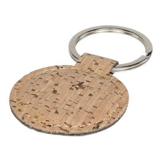 Porte-clés rond aspect liège Porte-clés publicitaires