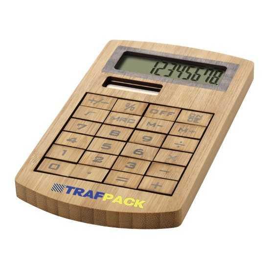 Calculatrice en bambou Eugene Calculatrice