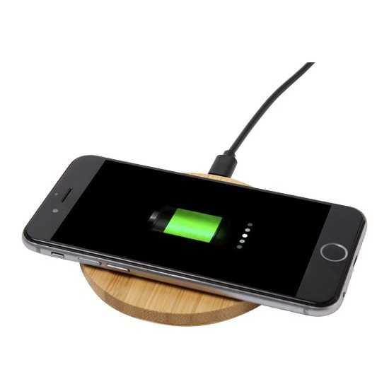 Chargeur à induction en bambou véritable Batterie externe Bois personnalisable