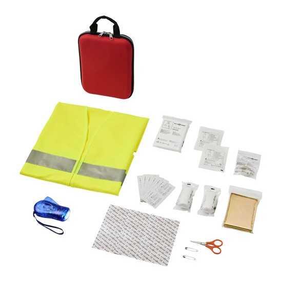 Trousse de premiers secours et gilet de sécurité Handies Trousse de secours publicitaire