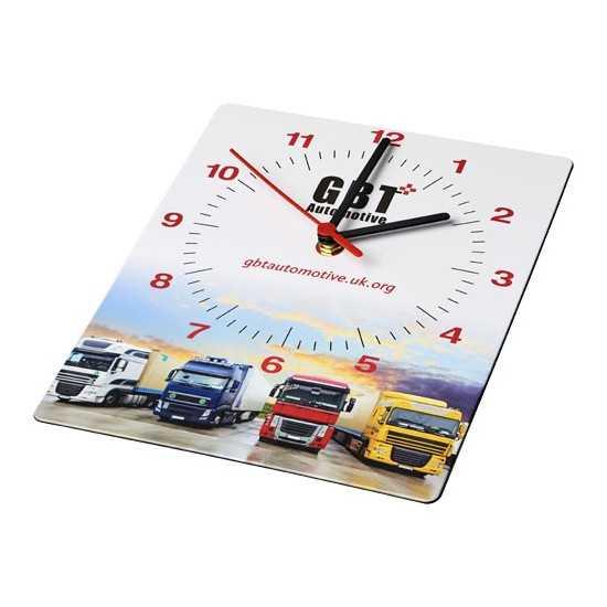 Horloge murale rectangulaire personnalisée avec photo Horloge publicitaire