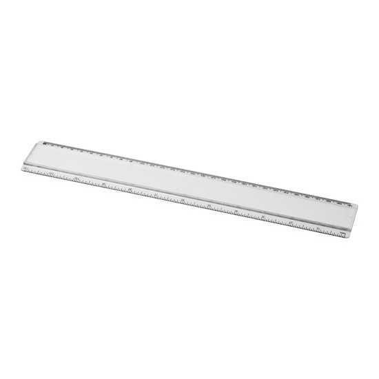 Règle en plastique avec insertion de papier décoratif 30 cm Ellison Stylo métal personnalisé