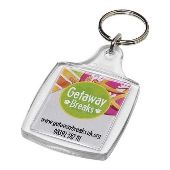 Porte-clés A4 avec attache en métal Leor Porte Clé Plastique personnalisé