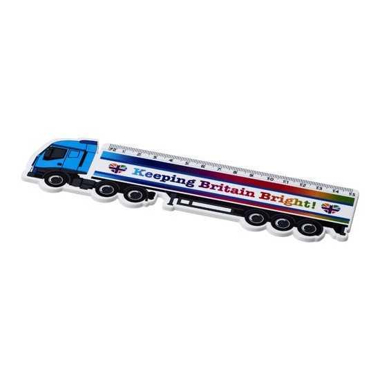 Règle en plastique en forme de camion 15 cm Loki Règles publicitaires