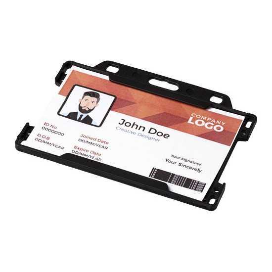 Porte-cartes en plastique Vega Porte badge personnalisé
