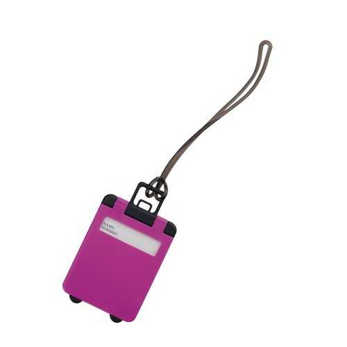 Identificateur valise publicitaire cloris Etiquette bagage publicitaire