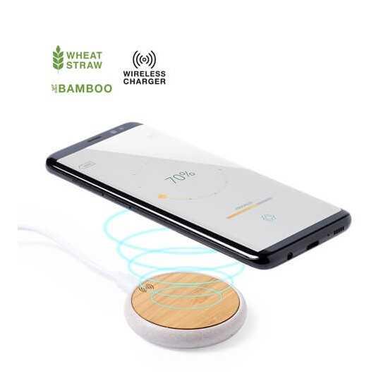 Chargeur induction écologique Fiore Chargeur Sans Fil personnalisé