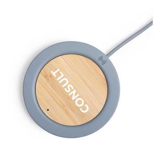 Chargeur sans fil bambou et ciment calcaire Chargeur Sans Fil personnalisé