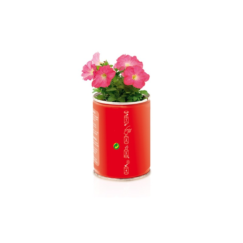 Boîte conserve publicitaire flowcan Pot de fleurs publicitaire