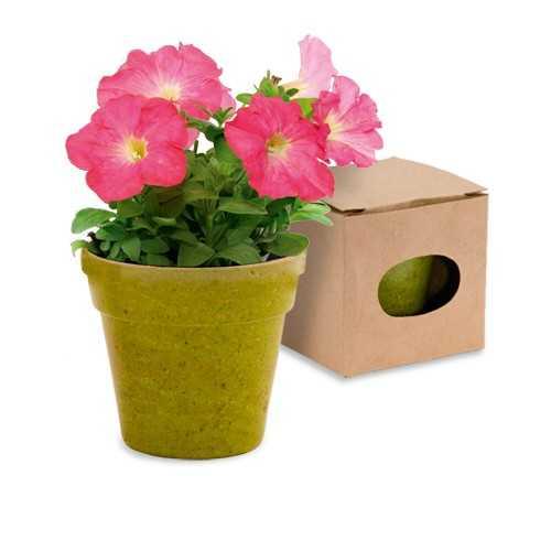 Pot de fleurs publicitaire advert Pot de fleurs publicitaire