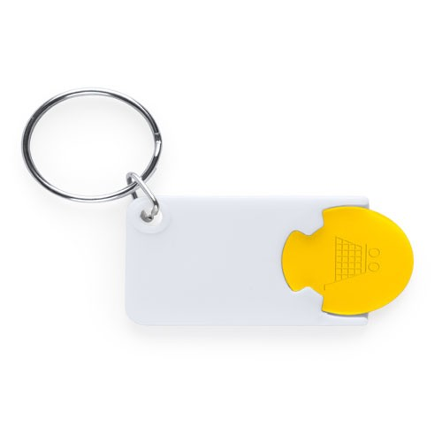 Porte-clés monnaie publicitaire zabax Porte-clés publicitaires