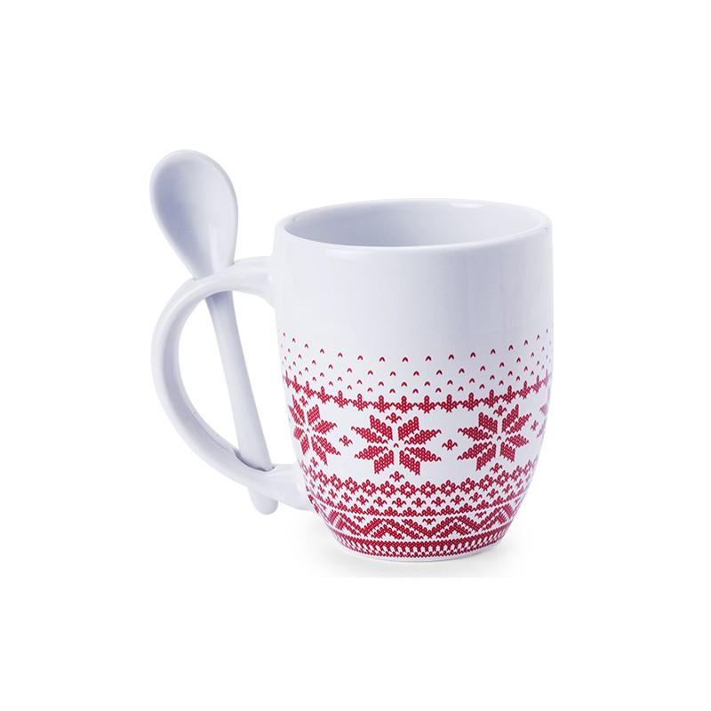 Mug à cuillère Noël publicitaire sorbux NOEL