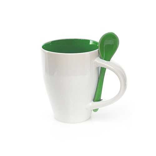 Mug à cuillère publicitaire cotes Mug publicitaire