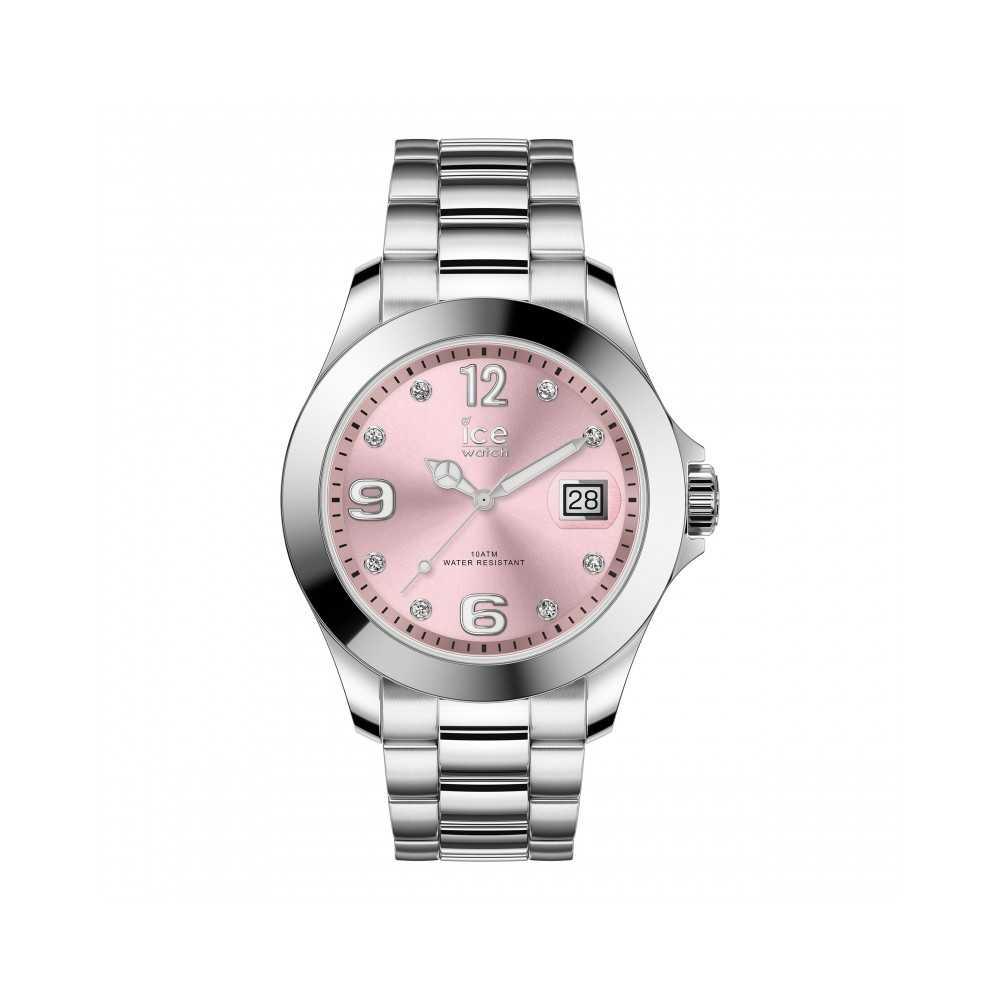 ICE steel-Classic Light pink SR Stones-Moyenne-3H Ice-Watch ICE-WATCH