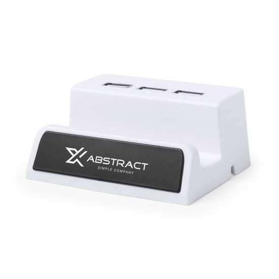 Port USB Logo Lumineux Delawer Hub usb personnalisable
