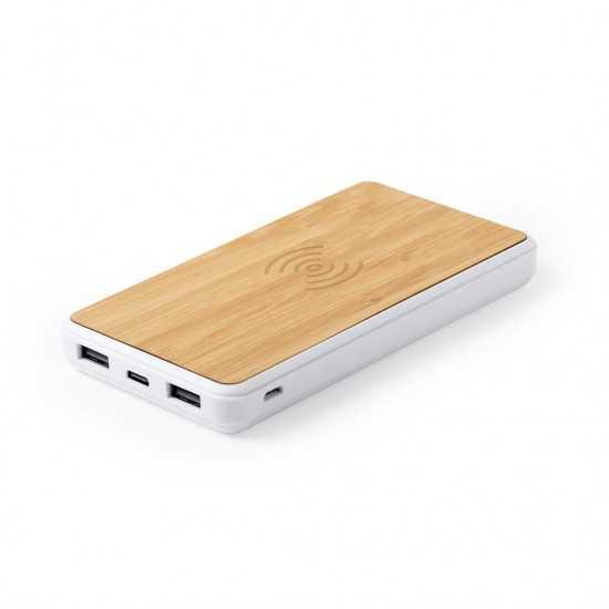 Chargeur induction en bois Dickens Batterie externe Bois personnalisable