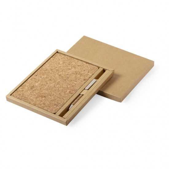Set 2 pièces Carnet et Stylo écologique Minsor Coffret Cadeau Bureau