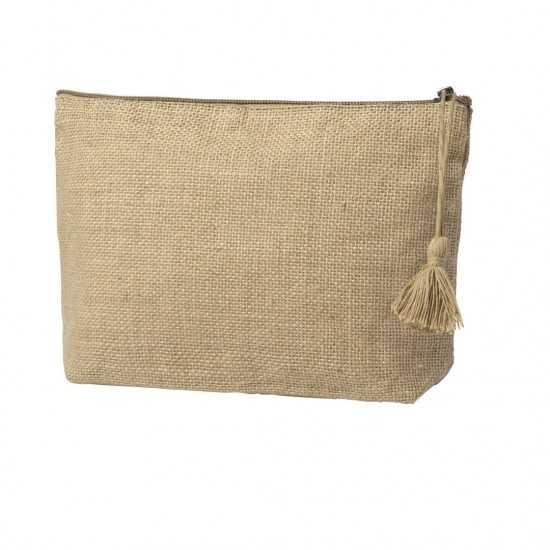 Nécessaire en Toile de Jute Lindak Trousse coton personnalisable551