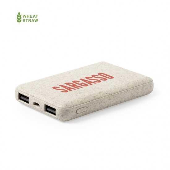 Batterie secours écologique en paille de blé Shiden Batterie externe Bois personnalisable