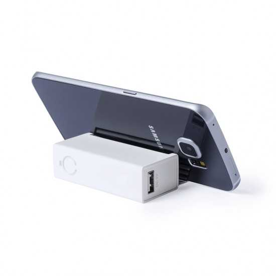 BAtterie Externe avec support telephone Extensible Sanders Powerbank publicitaire