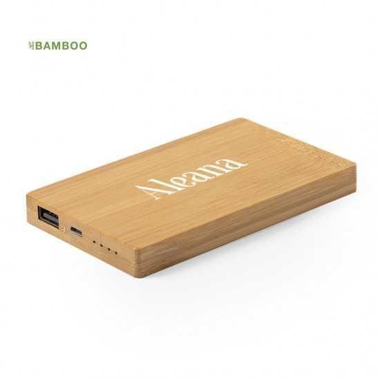 Batterie Externe Bambou Nipax Batterie externe Bois personnalisable