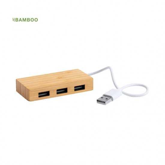 Hub Usb Bambou 3 Ports Revolt Hub usb personnalisable