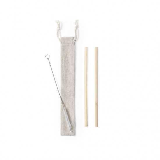 Set Paille bambou Piltu Paille réutilisable personnalisé