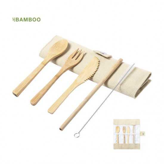 Set Couverts Bambou personnalisé Corpax Set couverts publicitaire