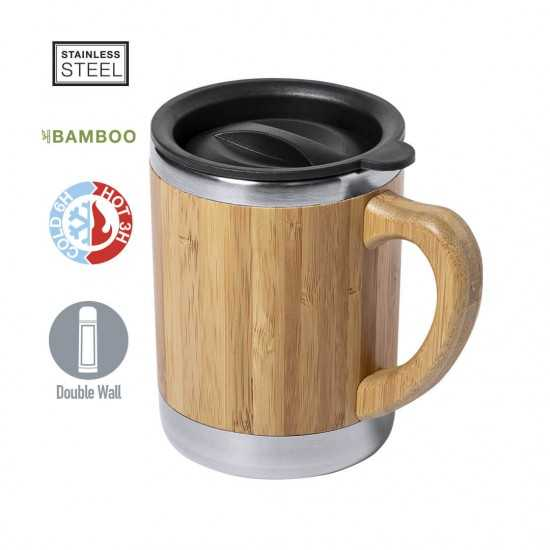 Mug Bambou double Paroi Vanatin Mug publicitaire