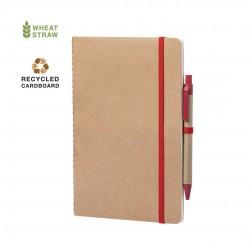 Cahier carton recyclé stylo Fermeture elastique Esteka Bloc-notes avec stylo
