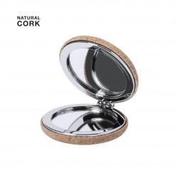Miroir pliable liège métal chromé Miroir publicitaire