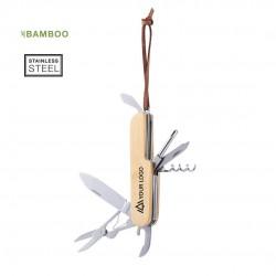 Couteau bambou acier inoxydableTitan Canif publicitaire