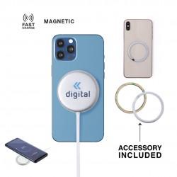 Chargeur magnétique sans fil indicateur charge Makensy Chargeur Sans Fil personnalisé
