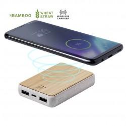 Batterie externe Bambou sans fil Gorix Batterie externe Bois personnalisable