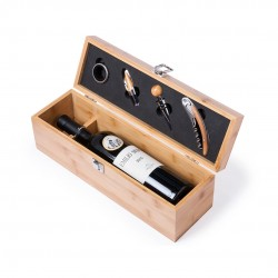 Coffret vin en bois personnalisé BORIAX Coffret sommelier personnalisé