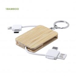Chargeur Porte clés Bambou Rusell Cable usb personnalisé
